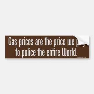 Gas Prices Bumper Sticker