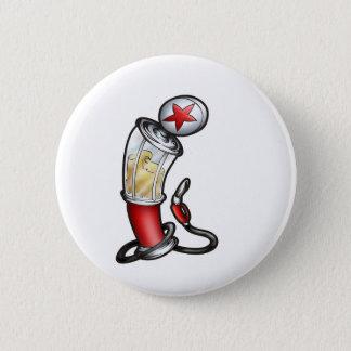 Gas Pump 6 Cm Round Badge