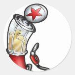 Gas Pump Round Sticker