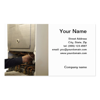 gas service engineer business card