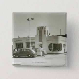 Gas Station 15 Cm Square Badge