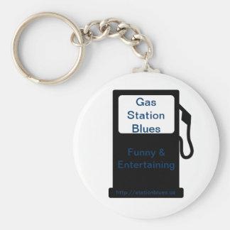 Gas Station Blues Keychain