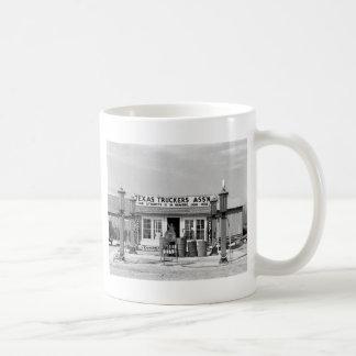 Gas station - Edcouch, Texas: 1939 Basic White Mug