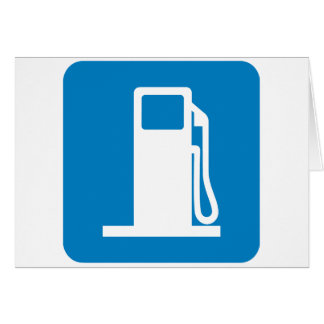 Gas Station Highway Sign Card
