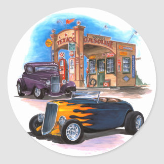 Gas Station Hot Rod Stickers