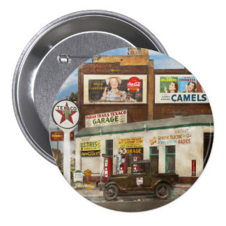 Gas Station - Indian Trails gas station 1940 7.5 Cm Round Badge