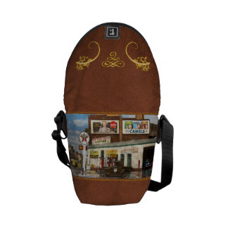 Gas Station - Indian Trails gas station 1940 Courier Bags