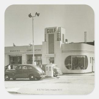 Gas Station Square Sticker