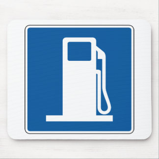 Gas Station Street Sign Mouse Mat
