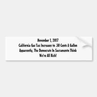 Gas Tax Revolt Bumper Sticker
