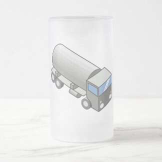 Gas truck.ai frosted glass beer mug