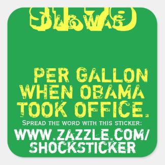 Gas was $1.79 per Gallon When Obama Took Office Square Sticker