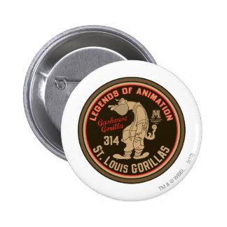Gashouse Gorillas Logo Feat. Pitcher Button