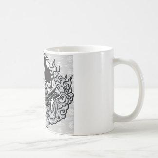 gasmask basic white mug