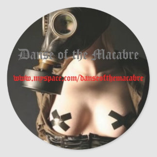 Gasmask-, Danse of the Macabre, w... Classic Round Sticker