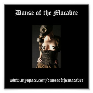 Gasmask-Fashion-Fetish, Danse of the Macabre, w... Poster