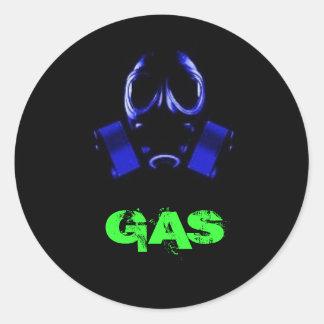 gasmask, GAS Classic Round Sticker