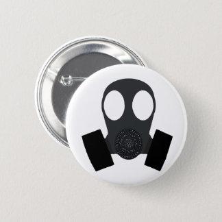 Gasmask Gas Mask 6 Cm Round Badge