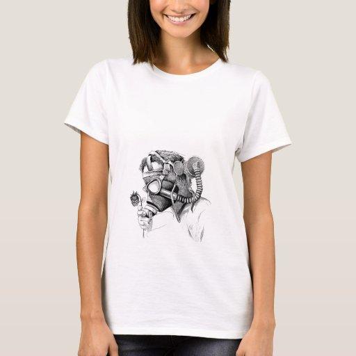 Gasmask girl shirt