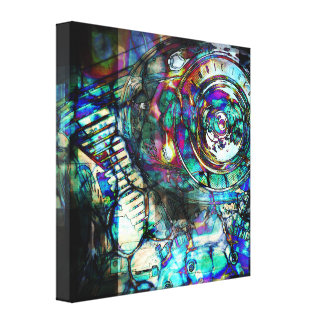 Gasoline Motorcycle Engine Gallery Wrapped Canvas