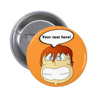 Gasp! 6 Cm Round Badge