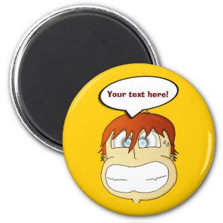 Gasp! 6 Cm Round Magnet