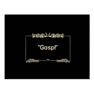 Gasp! Silent Films Postcard