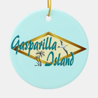 Gasparilla Island Florida beach design Christmas Ornament