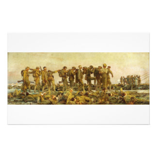 Gassed by John Singer Sargent World War I Personalized Stationery