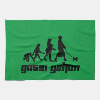Gassi gehen tea towel