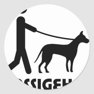 Gassigeher dog walker hund round sticker