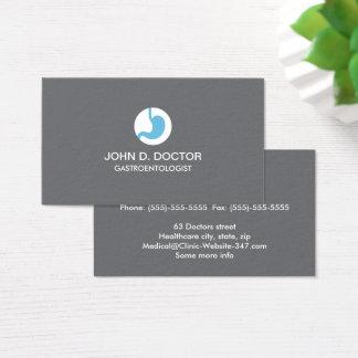 Gastrology or gastrologist gray business card