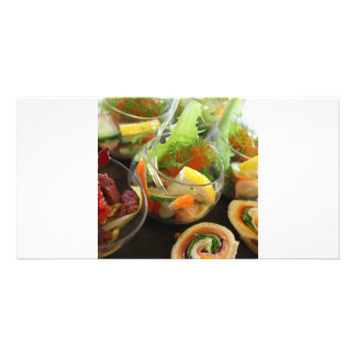 gastronomy personalized photo card