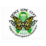 Gastroparesis Butterfly Tribal 2 Post Card