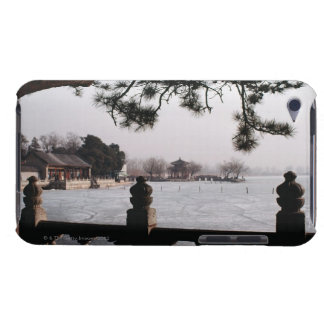 Gate and foliage by frozen lake, China Case-Mate iPod Touch Case