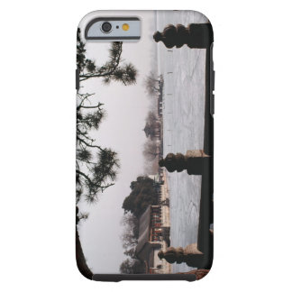 Gate and foliage by frozen lake, China Tough iPhone 6 Case