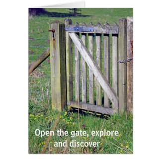 Gate in the meadow card