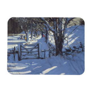 Gate near Youlgreave Derbyshire Rectangular Photo Magnet