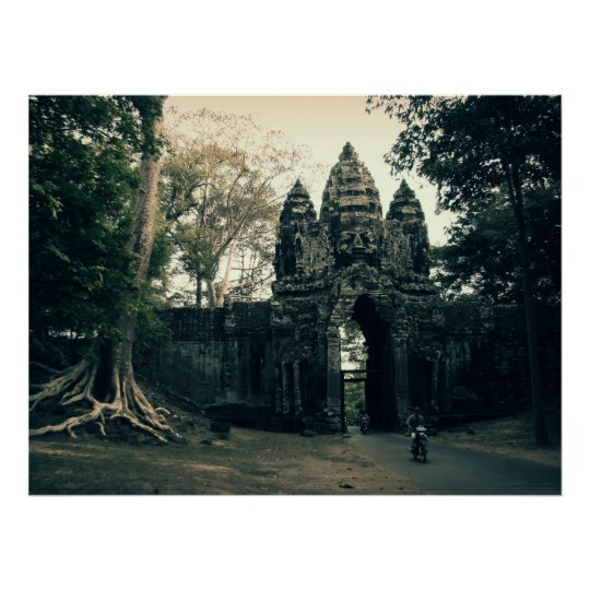 Gate of Angkor Thom Poster