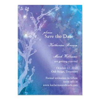 Gate of Dawn in Blue Dreamy Wedding Save the Date Card