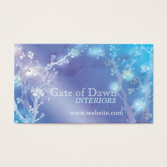 """Gate of Dawn"" Jewel Floral Trees Business Cards"