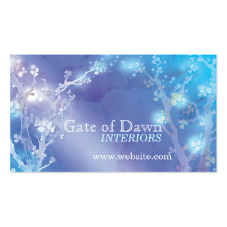 """Gate of Dawn"" Jewel Floral Trees Interior Design Pack Of Standard Business Cards"