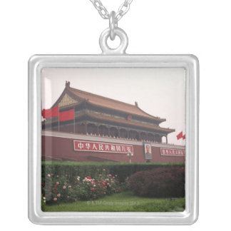 Gate of Heavenly Peace, Beijing, China Silver Plated Necklace