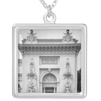 Gate of the military exhibition silver plated necklace