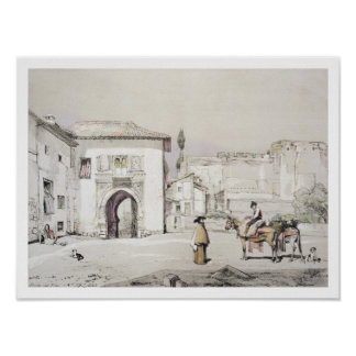 Gate of the Vine (Puerta del Vino), from 'Sketches Poster