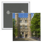 Gate to Trinity College and rows of bicycles, Pinback Button