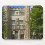 Gate to Trinity College and rows of bicycles, Mouse Pad