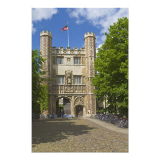 Gate to Trinity College and rows of bicycles, Photo Print