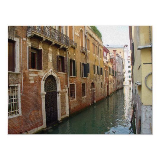 Gated Door in Venice Canal Poster