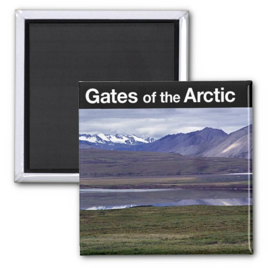 Gates of the Arctic National Park Square Magnet